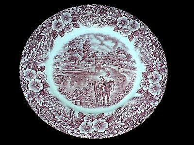 The Constable Series  Broadhurst Ironstone Staff 6 5/8 inch Red/Pink Plates x4
