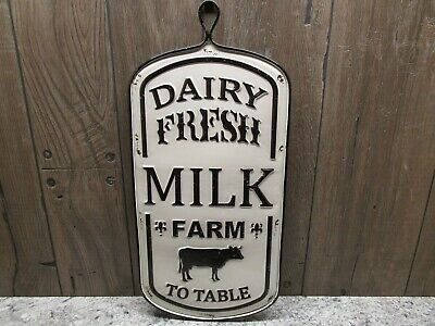 Dairy Fresh Milk Farm To Table Sign