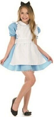 Girls Traditional Alice in Wonderland Book Day Week Fancy Dress Costume Outfit