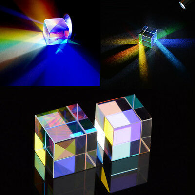 Defective Optical Glass Prism Dichroic Combiner Splitter RGB X-Cube 20X20mm