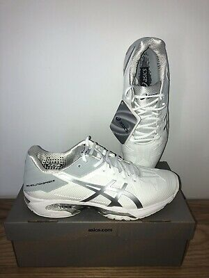 f7f5f8821a16 New Asics Gel-Solution Speed 3 Mens Size 7,5 White Silver Tennis NIB