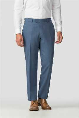 Ted Baker Twirl Air Force Blue Virgin Wool Tailored Trousers Bnwt 34 R Rrp £149