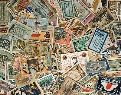 GERMAN NOTGELD Bulk Circulated Lots of 10: Circulating + Series Notes 1917-1922