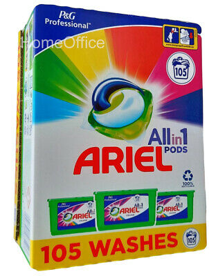 Ariel Washing Pods 3 in1 Colour Capsules Clothes 105  Washes - Colour