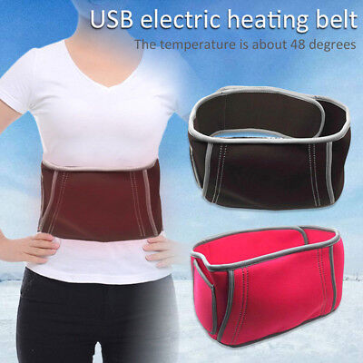 AU_ Unisex Electric USB Heating Heated Belt Waistbelt Home Office Winter Warmer