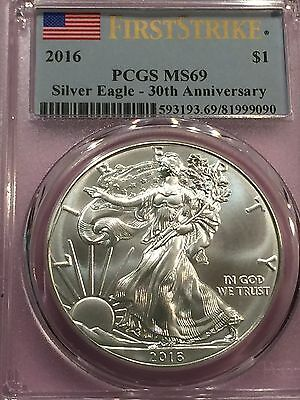 2016 1 oz Silver American Eagle-PCGS MS69 First Strike -SUPERB EYE APPEAL