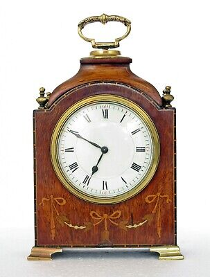 Quality Antique Bracket / Mantel Clock, Regency Style, Inlaid Wood, Working Well