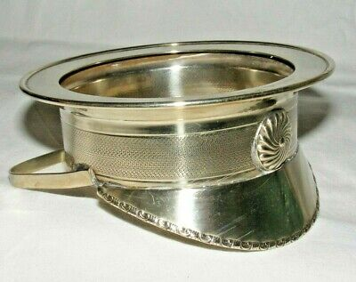 Rare Antique Silver Plate Military Officers Cap  Bowl Or Bottle Decanter Coaster