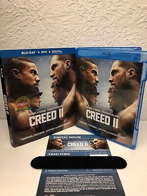 Creed II Blu-ray + Digital HD (NO DVD INCLUDED) Michael B Jordan, Stallone! READ