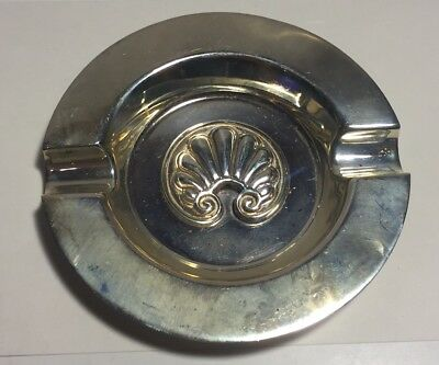 Zolatas Greece Vintage Sterling Silver Shell Design Ash Tray
