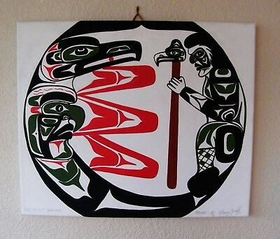 * Raven And Spirit Dancer * Original Signed Art By Anthony Joseph