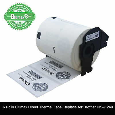 6 Compatible for Brother DK11240 Large Multi-Purpose Label 51 x102mm QL1060N