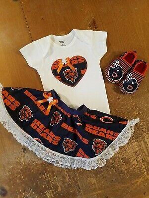 d16abcf8e Chicago Bears Baby Girl 3 Piece Tailgating Outfit Girl 0-3 Months Skirt  Bears