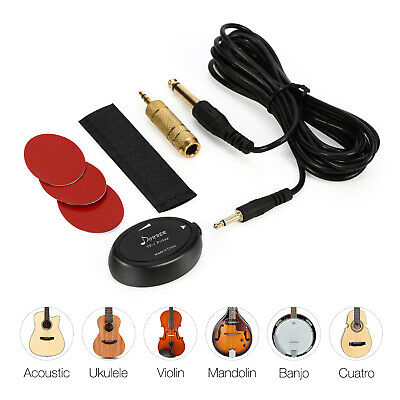 Donner Acoustic Piezo Contact Microphone Pickup Guitar Violin Ukulele Transducer