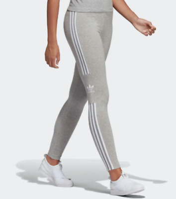14f061993fa New Women's Adidas Originals Trefoil Leggings (DV2641) Grey Heather / White