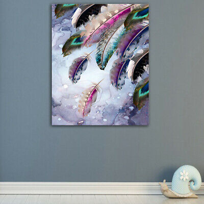 Dreamy Abstract Feather HD Canvas Wall Art Oil Painting Modern Home Room Decor