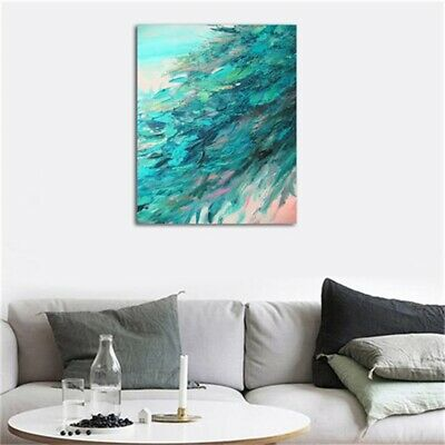 HD Print Canvas Wall Art Abstract Blue Wave Oil Painting Modern Home Room Decor