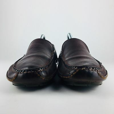 5eb6f8d554a Cole Haan Driving Loafers Mens Sz 8 Moccasins Moc Toe Slip On Brown Leather