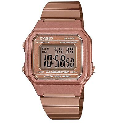 Casio Retro Rose Gold Tone Stainless Steel Strap Unisex Watches B650WC-5A B650WC
