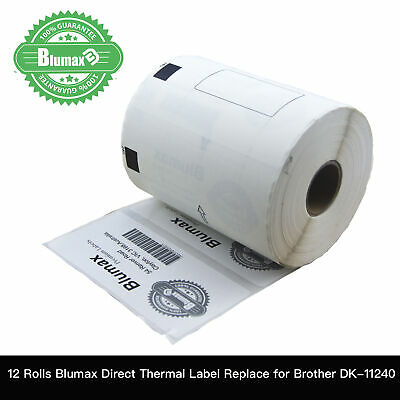 12 Blumax Compatible for DK11240 Refill Roll Only Large Multi-Purpose Label