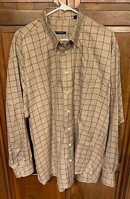 cf7e961b7174 Burberry London Men XL Button Down Long Sleeve Shirt Check Plaid Cotton USA  Made