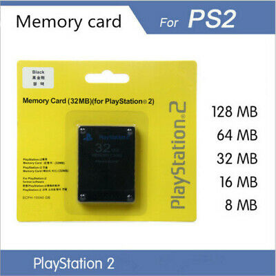 16MB 32MB 64MB 128MB Memory Card Carte Mémoire Pour Sony Playstation 2 PS2
