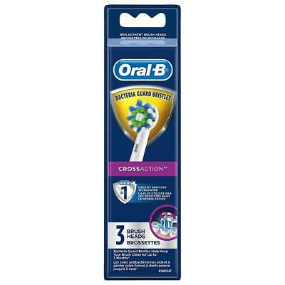 Oral-B CROSS ACTION 3 Replacement Toothbrush Heads BRAND NEW FACTORY SEALED
