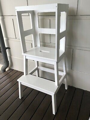 Learning tower- toddler chef stool- kitchen helper White Or White : Pine