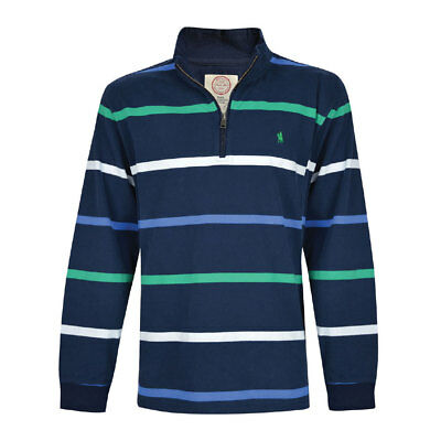 SALE  New Mens Thomas Cook ANTHONY Rugby  Jumper Navy Zip Up Neck