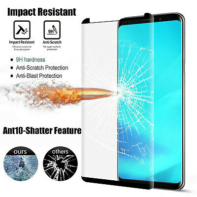 [Crack Saver] Samsung Galaxy Note 9 8 S9 S8 Plus Hard Tempered Glass Screen Film