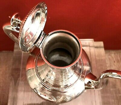STERLING SILVER: Elegant French TEAPOT in very good condition (Minerve) 19th C