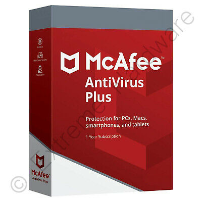 McAfee Antivirus Plus 2019 Unlimited Devices 1 Year Licence Key Digital Download