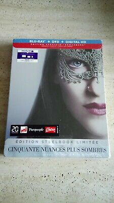 Cinquante Nuances Plus Sombres Steel Book Blu Ray+DVD+Digital HD Neuf Sous Blist