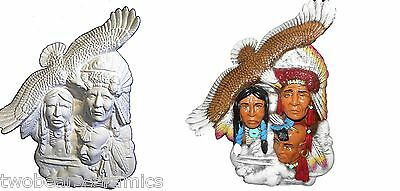 Ceramic Native American - Bisque or Handpainted Sky Warriors 33cm Tall