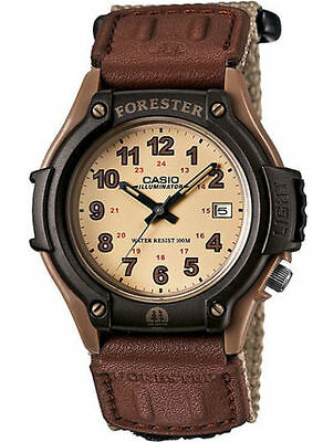 Casio FT500WC-5BV, Forester, Analog Watch, Beige Nylon Strap, Date, 100 Meter WR