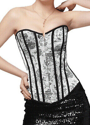 Women's Clothing Corset Blanc Irisé à Motif Blanc Clothing, Shoes & Accessories