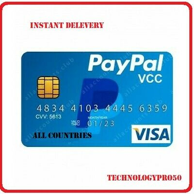 Virtual Credit Card For Paypal Verifecation All Countries New