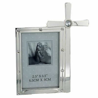Bless This Child/' S\plated /& Crystals Frame /& Cross 2.5x3.5 CG1079