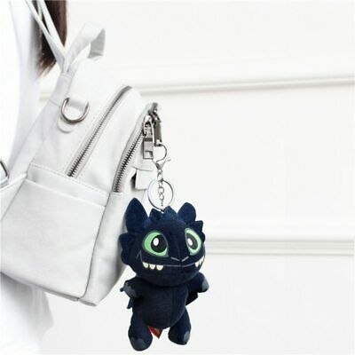 How to Train Your Dragon keychain Night Fury plush doll pendant Keyring kids toy