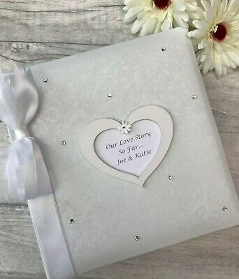 Personalised Traditional Our Love Story Photo Album Gift 200 6x4 Photos