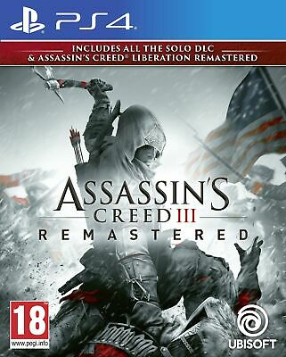 Assassin's Creed III Remastered (PS4) New & Sealed Fast Free UK P&P