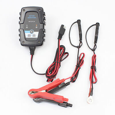 6V/12V 1A Automatic Smart Battery Charger Maintainer Fits Car Motorcycle US Plug