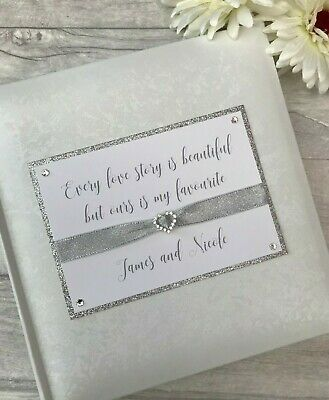 Personalised Traditional Love Glitter Photo Album Gift 200 6x4 Photos