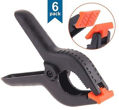 """6 X Plastic Spring Clamps Grips Clips Market Stall 3 """" Micro Small Nylon Craft"""