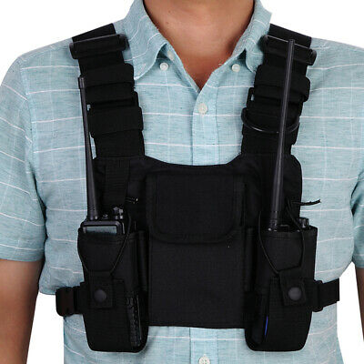Radio Harness Front Chest Pack Pouch Holster Vest for Baofeng UV-5R UV-82 UV-9R