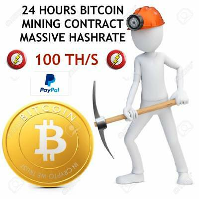 !!!MASSIVE HASHRATE!!! 100 TH/s - BTC - ₿  Cloud mining - 24 HOURS CONTRACT