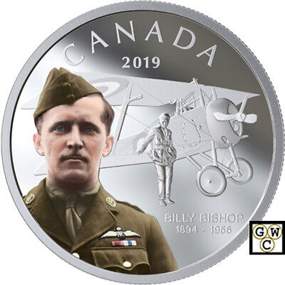 2019 'Billy Bishop' Colorized Proof $20 Silver Coin 1oz .9999 Fine (18696) (NT)