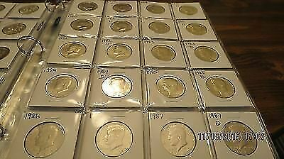 1971 to 2018 P/D Uncirculated Kennedy Half Dollar Collection!!