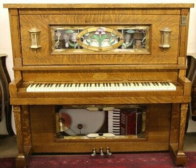 A Stafford Nickelodeon Company Mahogany And Glass Orchestrion 20Th Century