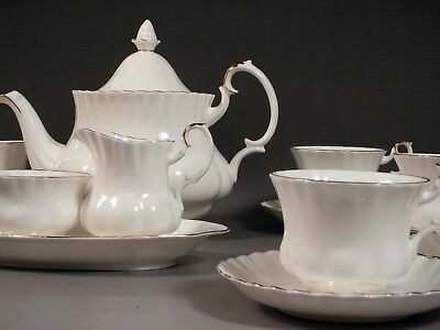 Royal Albert Val D'Or Coffee Tea Set Plates Platter Cup Saucer Teapot Sugar